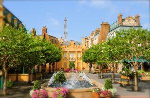 As Encantadoras ruas Francesas do pavilhão França no Epcot 24