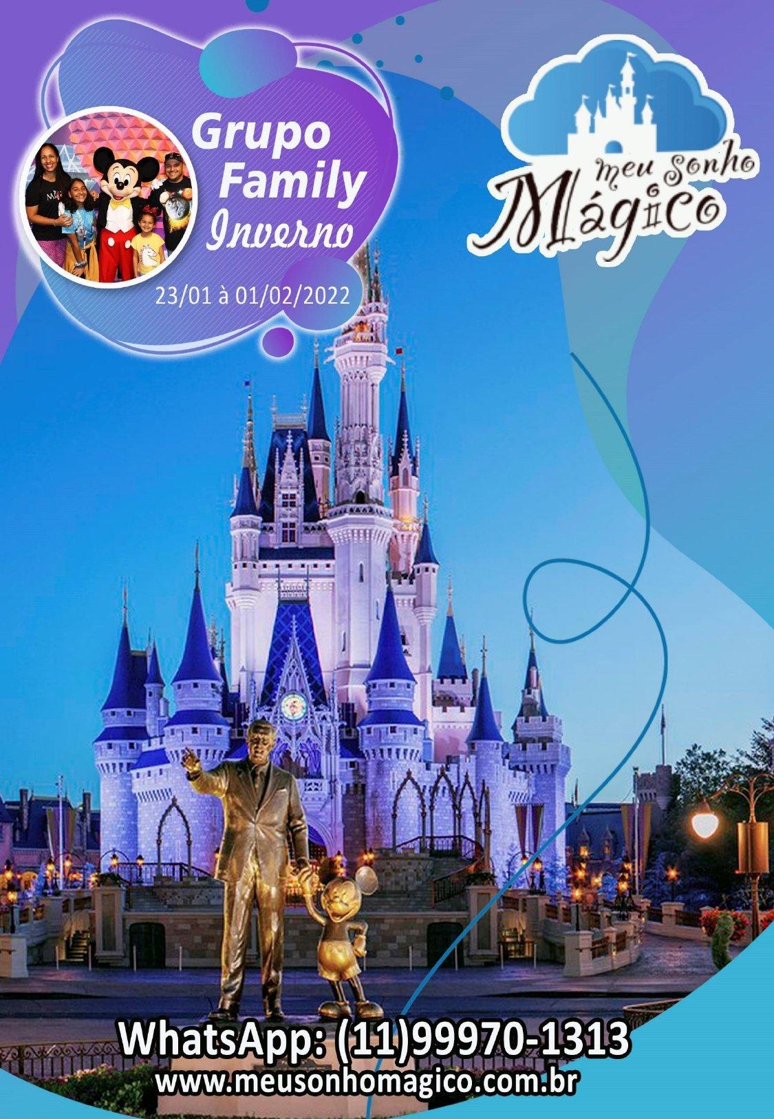Grupo Family Inverno - Disney Janeiro 2022 1