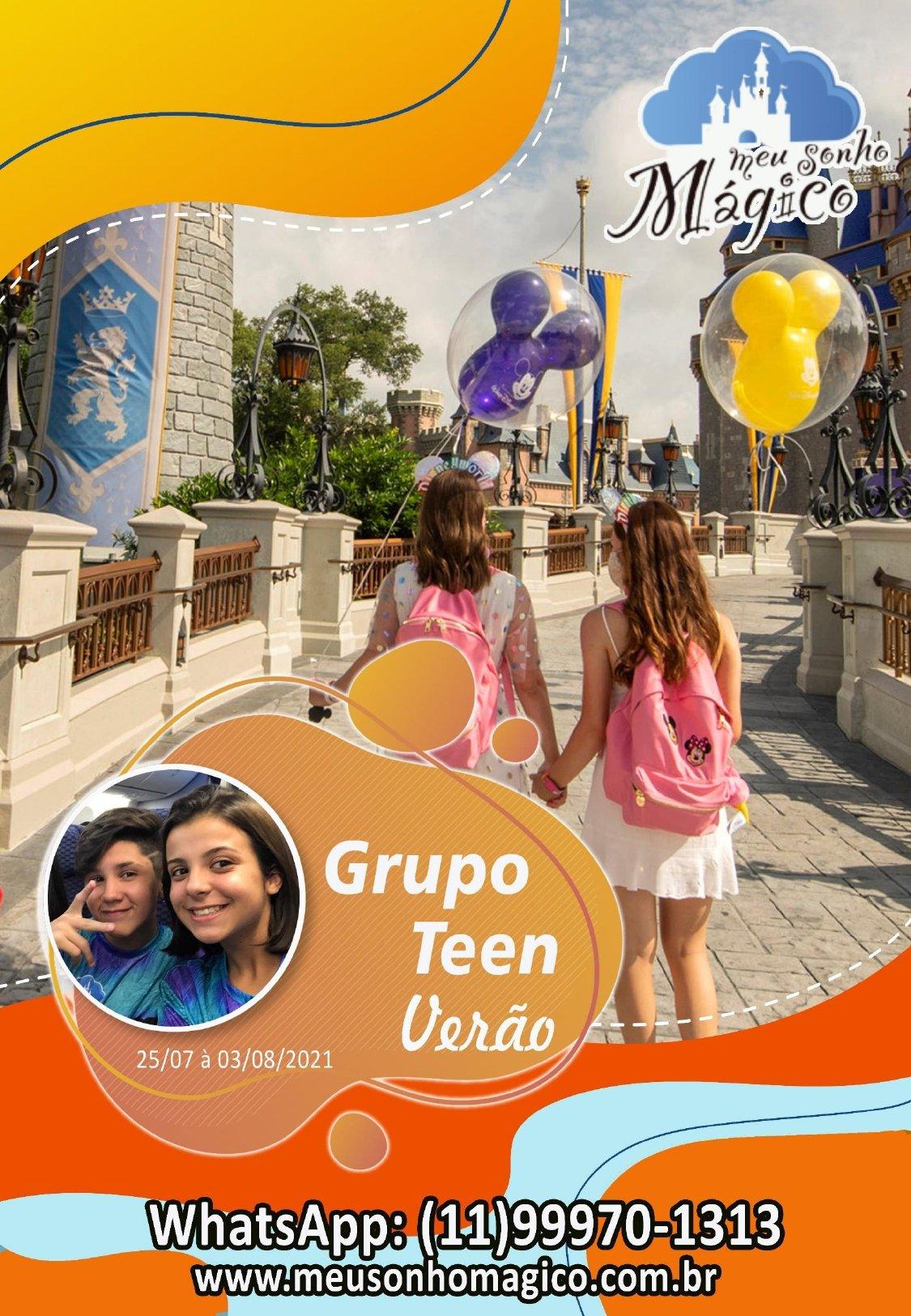 Grupo Teen Verão - Disney Julho 2021 1
