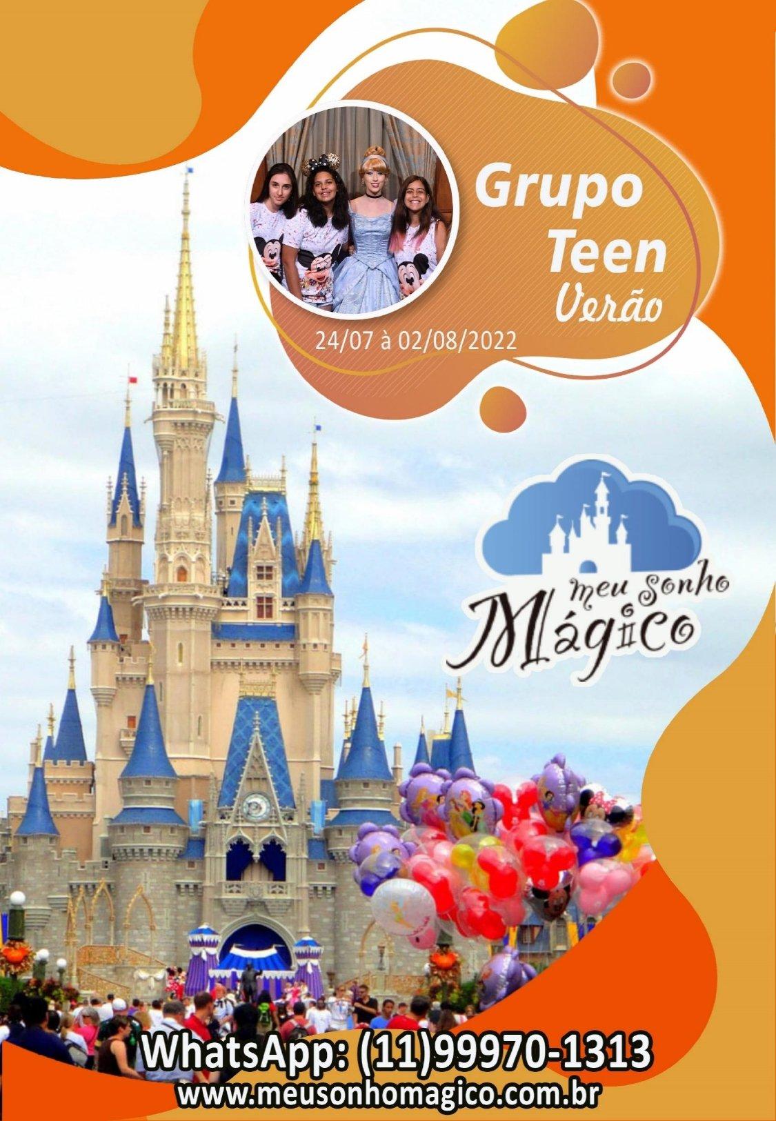 Grupo Teen Verão - Disney Julho 2022 1