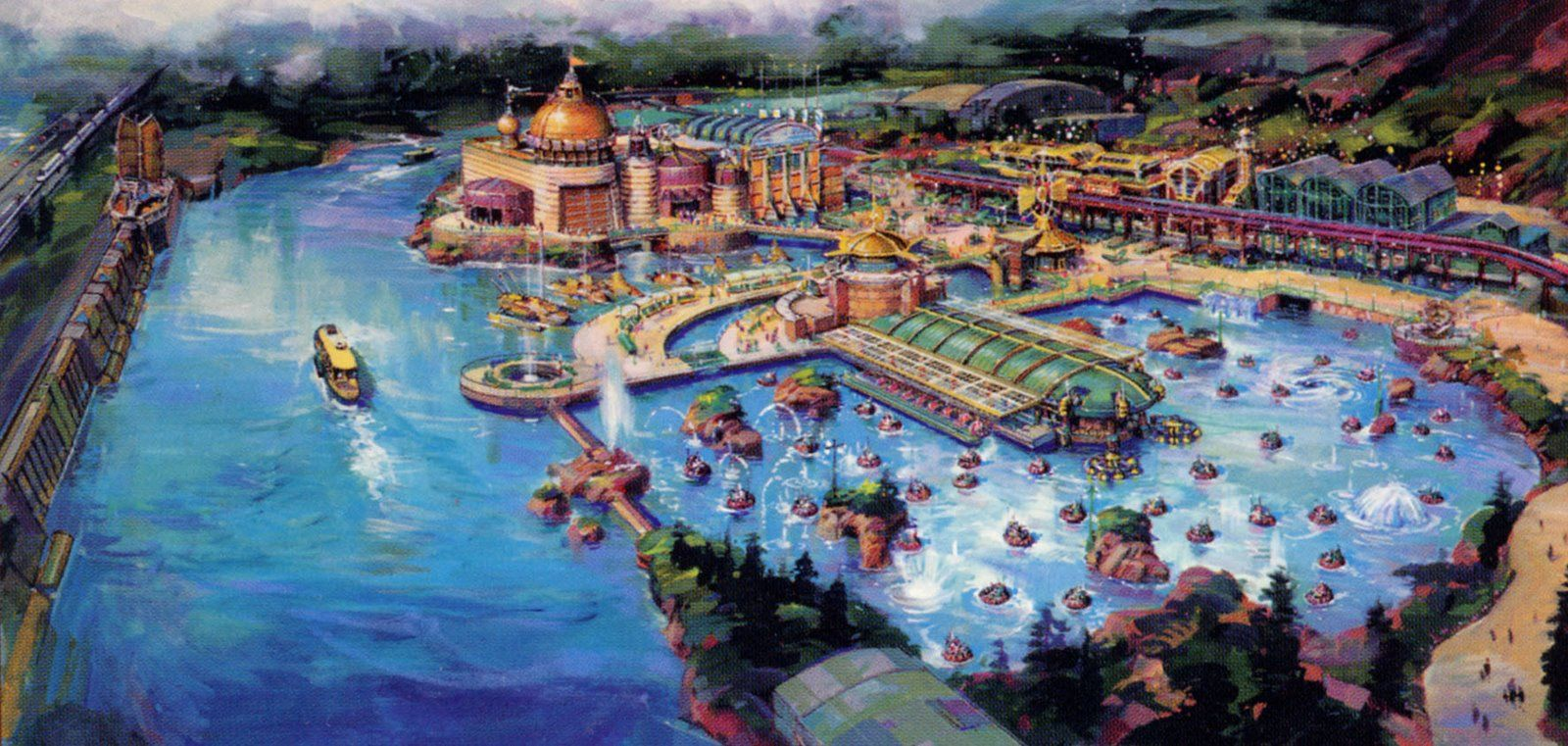 O futuro vintage na área  Port Discovery no Disney Tokyo Sea 14