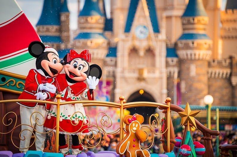A festa de Natal da Disneyland Tokyo 2