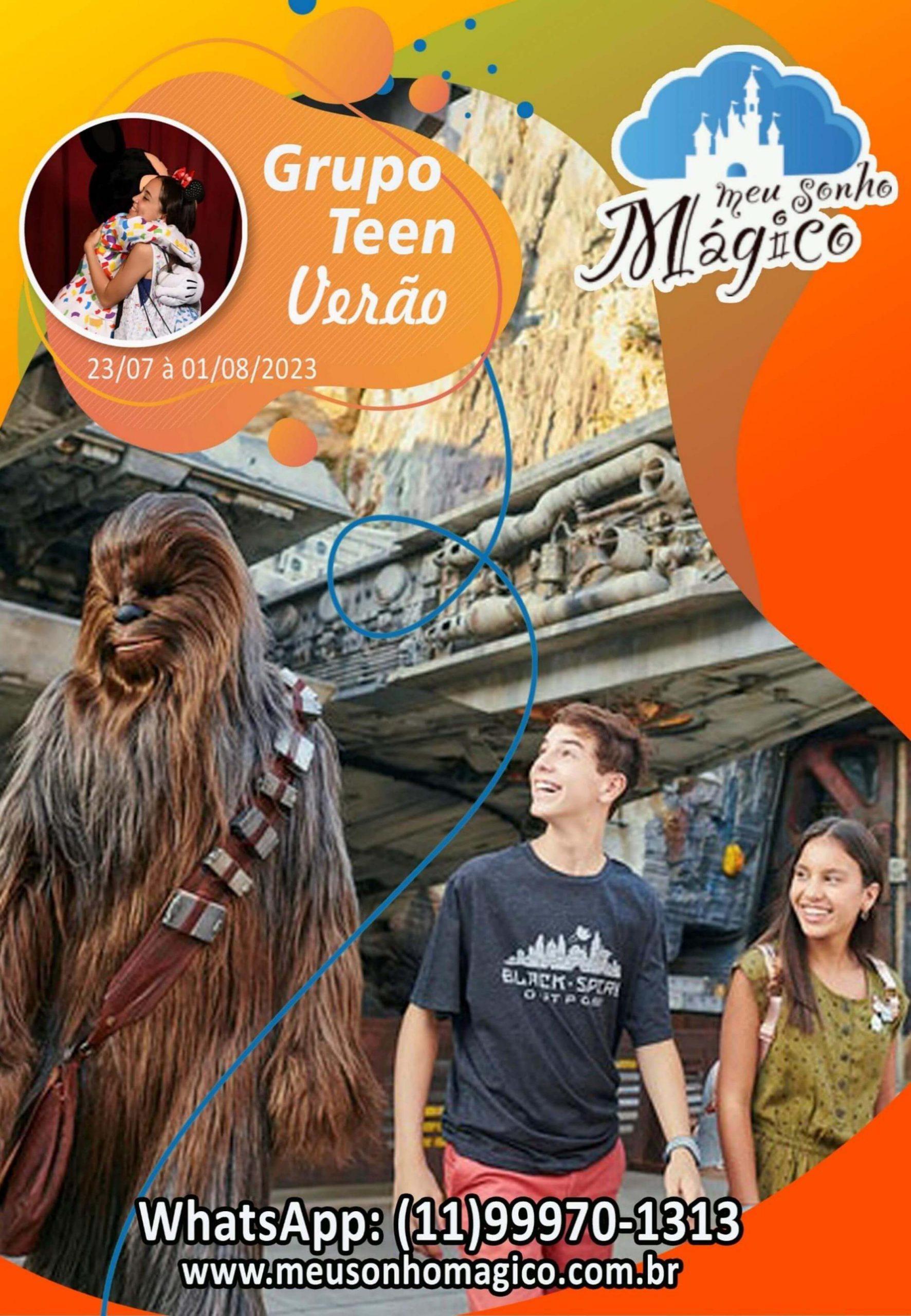 Grupo Teen Verão - Disney Julho 2023 1