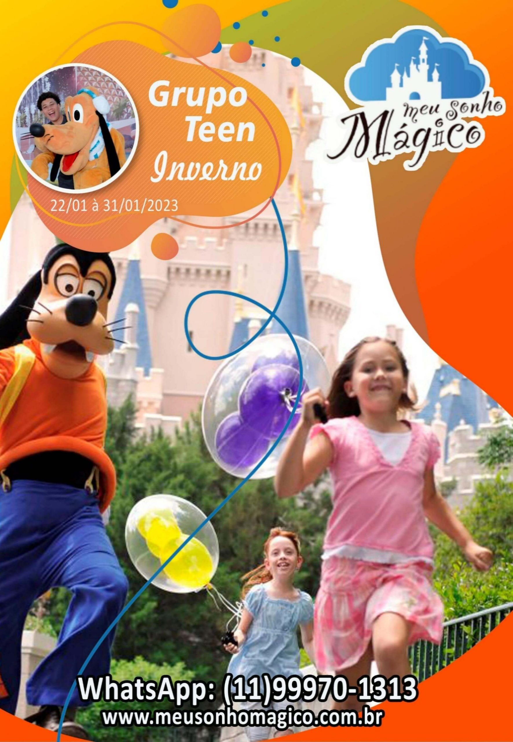 Grupo Teen Inverno - Disney Janeiro 2023 1