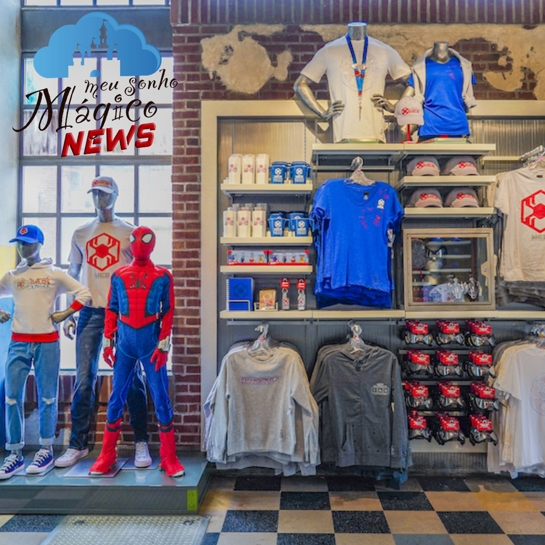 Disney  divulgou fotos de diversos produtos que estarão presentes na nova área da Marvel 14