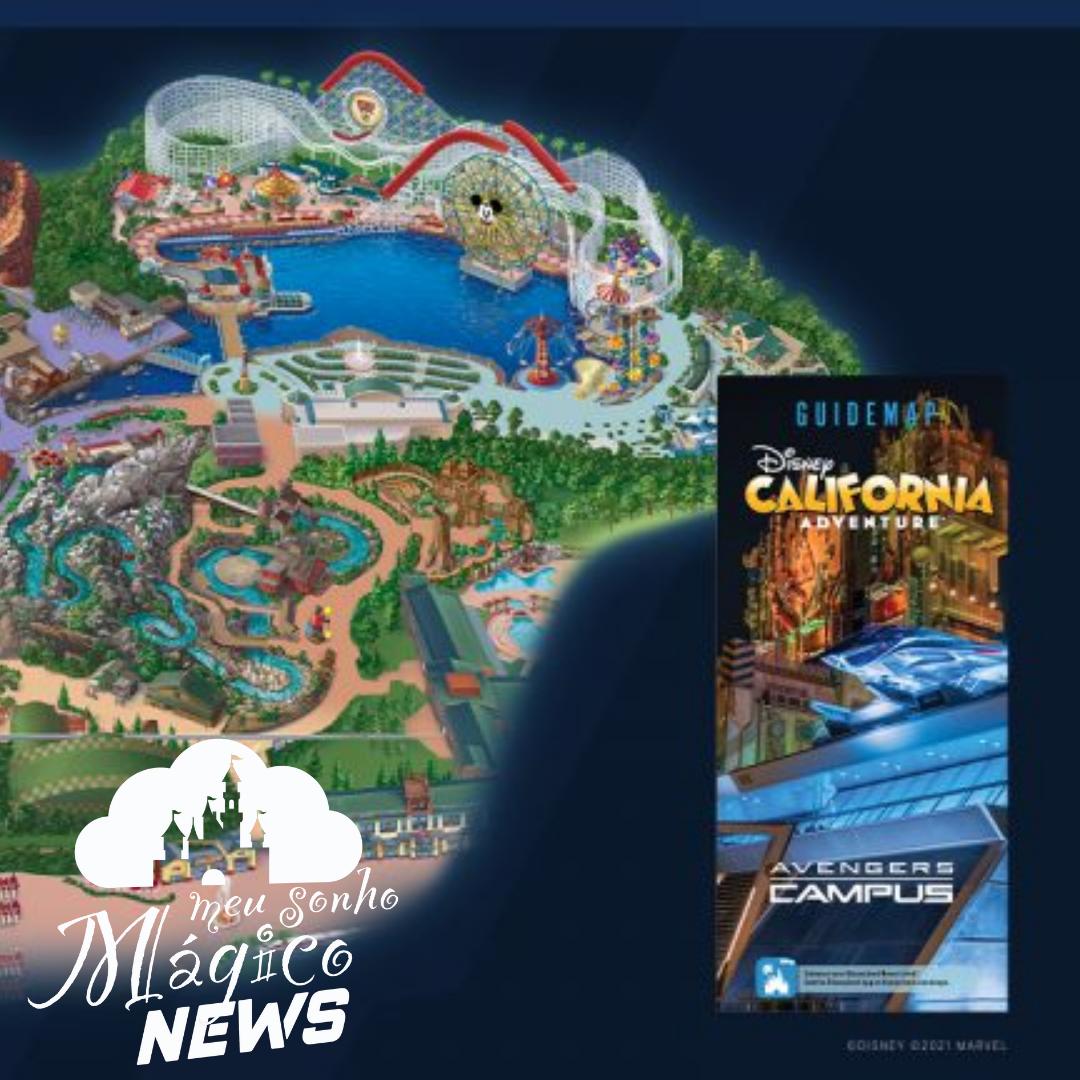 Disney compartilhou uma primeira olhada no mapa do Campus dos Vingadores. 4