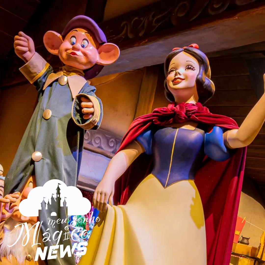 Disney realizou modificações na atração da Branca de neve, na Disneyland Califórnia. 2